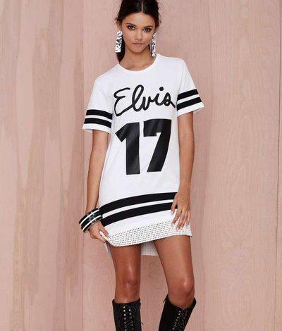 casual-sporty-short-sleeve-black-white-spring-dress-2015