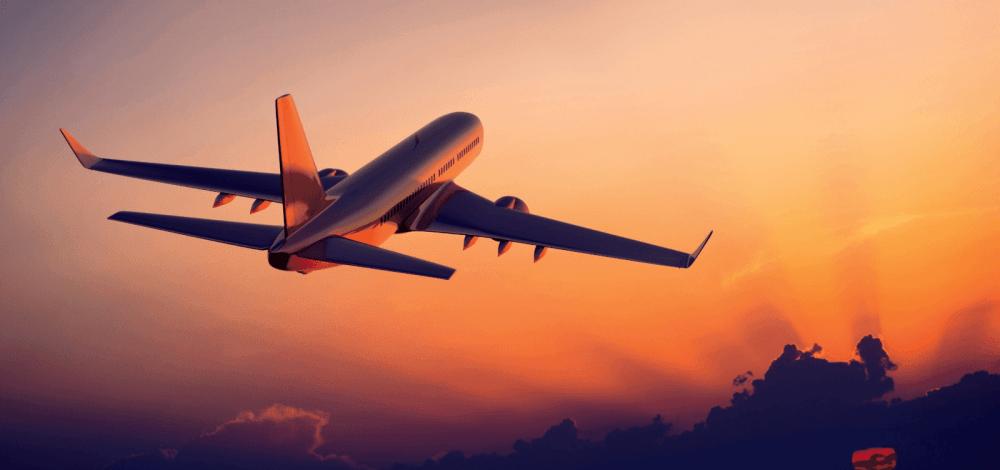 sunset-plane