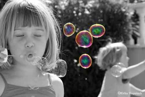 black-and-white-bubbles-chasing-childhood-children-favim-com-227435