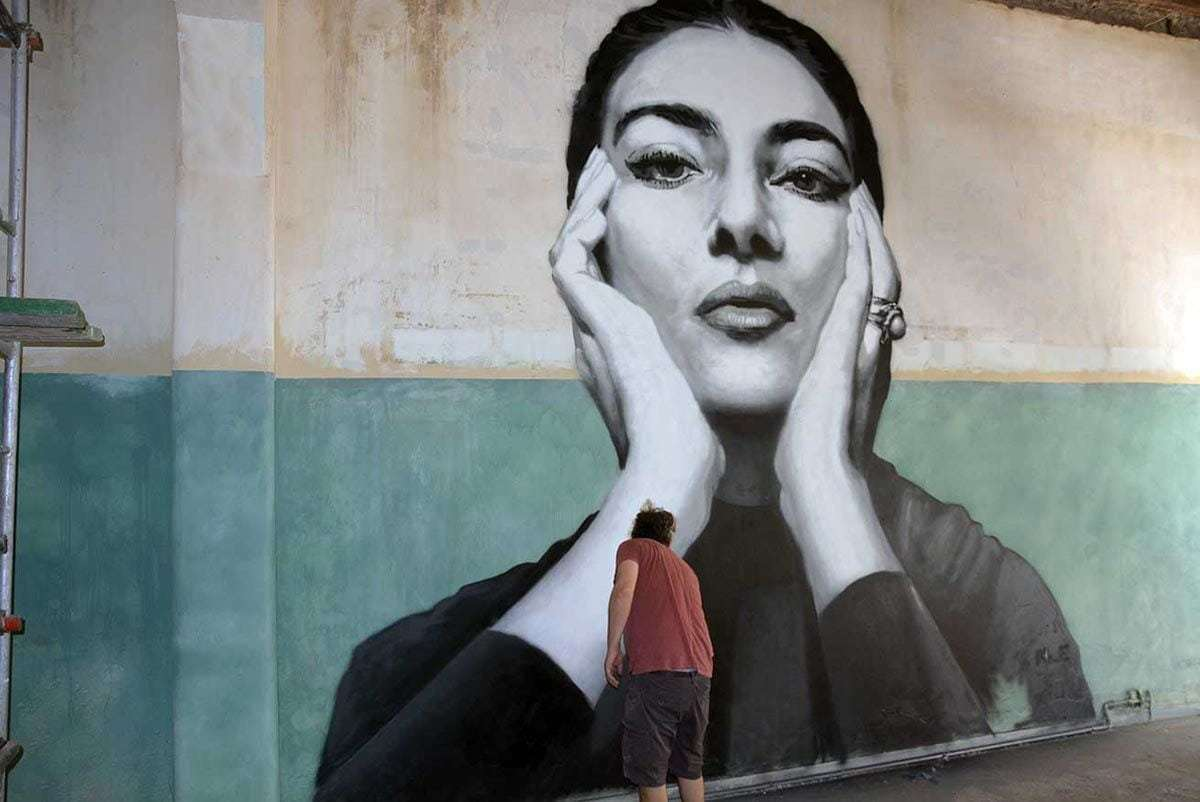 γκράφιτι Μαρία Κάλλας