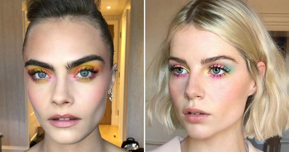 Tie-dye eye make up