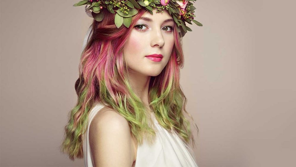 Two tone color hair