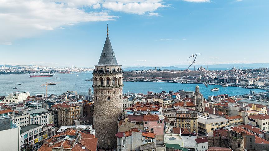 Galata tower θέα στην Κωνσταντινούπολη
