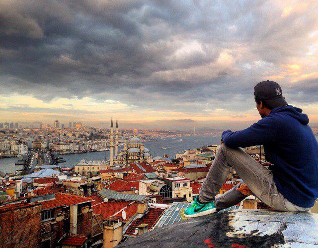 Büyük Valide Han- θέα στην Κωνσταντινούπολη
