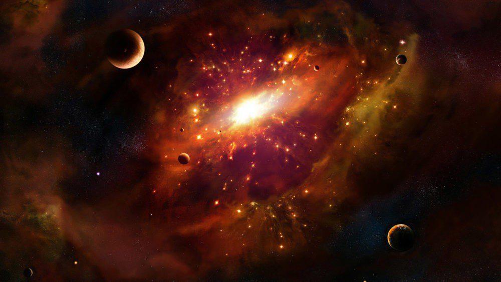 πλανήτες και αστέρια στο διάστημα