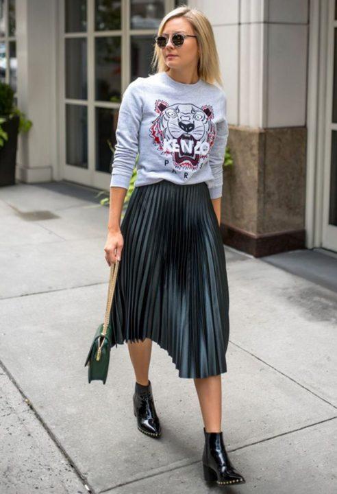Φόρεμα με πουλόβερ