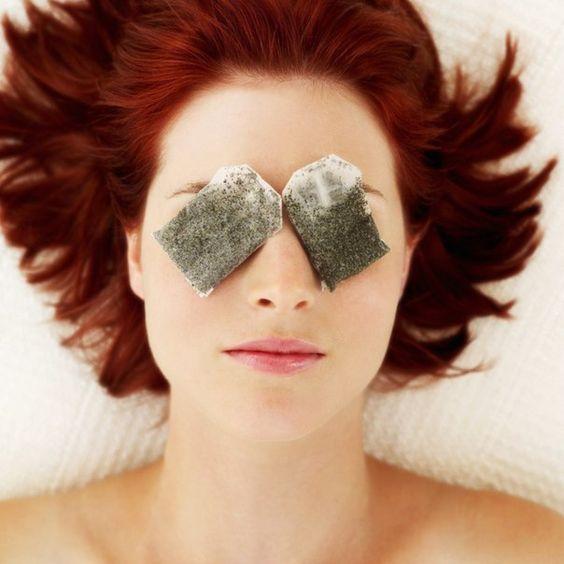 φακελάκι μαυρου τσαγιού για πρησμένα μάτια