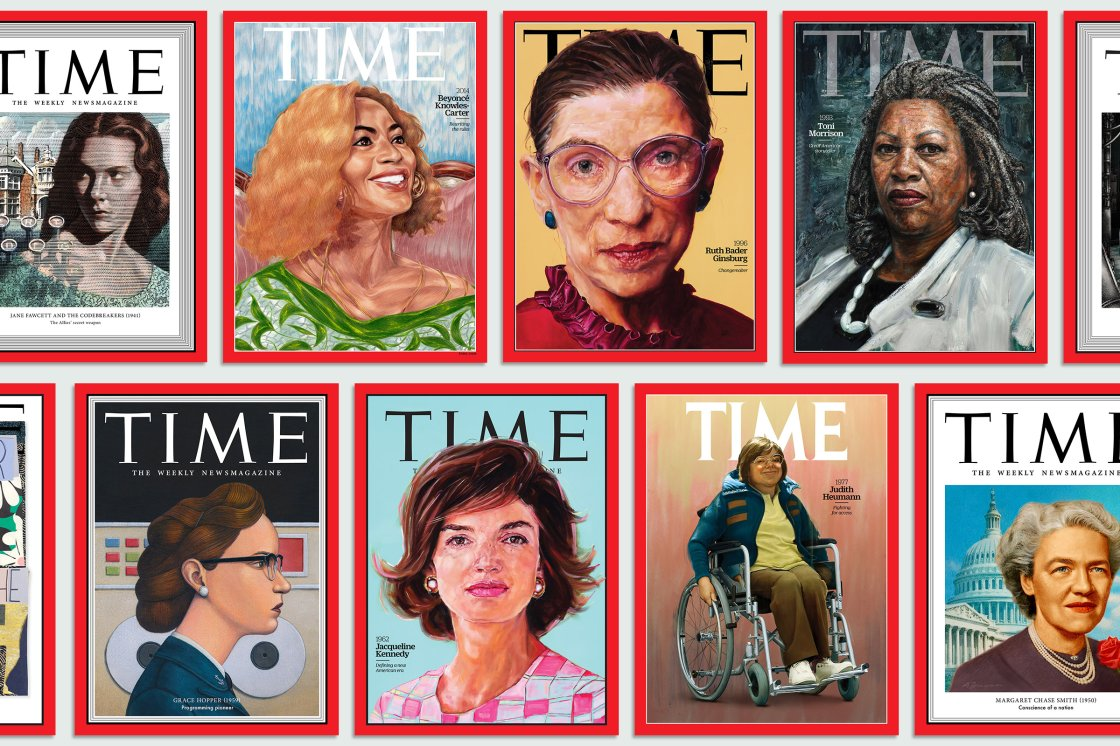 Illustration by Mark Summers for TIME; Fawcett Family/Anthony Crowley/Camera Press/Redux, 2014: Painting by Toyin Ojih Odutola for TIME, 1996: Painting by Shana Wilson for TIME, 1993: Portrait by Tim Okamura for TIME; Schiffer-Fuchs—Ullstein Bild/Getty, 1945: Illustration by Jennifer Dionisio for TIME; Bettmann/Getty, 1969: Art by Mickalene Thomas for TIME; Johnson: Arlene Gottfried—Daniel Cooney Fine Art; Sign: Diana Davies © NYPL/Art Resource, NY, 1959: Illustration by Marc Burckhardt for TIME; Alamy, 1962: Painting by Shana Wilson for TIME, 1977: Illustration by Jason Seiler for TIME; HolLynn D'Lil/Becoming Real in 24 Days, 1950: Illustration by Alan Dingman for TIME; Bettmann/Getty