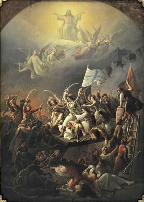 Η Έξοδος του Μεσολογγίου, έργο του Θεοδώρου Π. Βρυζάκη, πηγή εικόνας: el.wikipedia.org