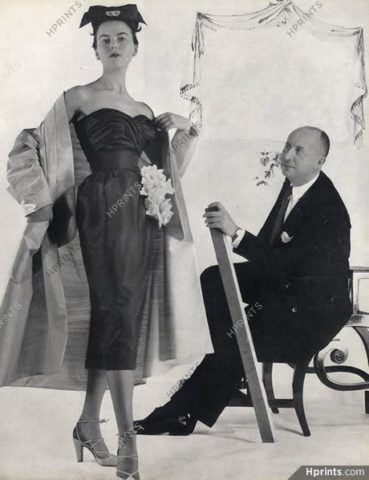 Christian Dior with his model