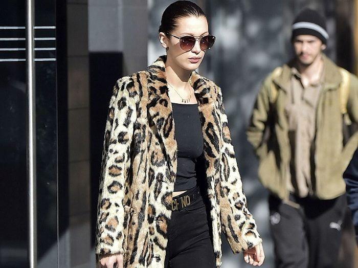 Leopard-print Coat