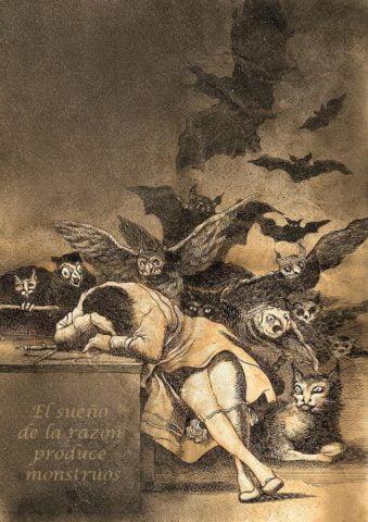 Πηγή εικόνας: fractalart.gr   Ο ύπνος της λογικής γεννάει τέρατα, χαρακτικό του Φρανθίσκο Γκόγια