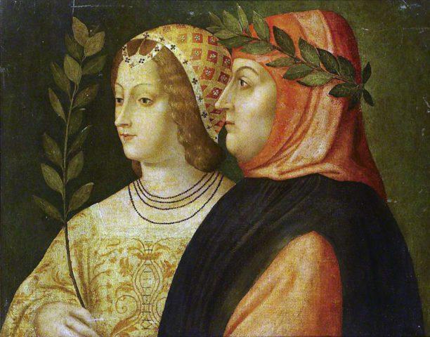 Πηγή εικόνας: lifo.gr | O Francesco Petrarca και η Laura de Noves σε έργο της Βενετσιάνικης Σχολής
