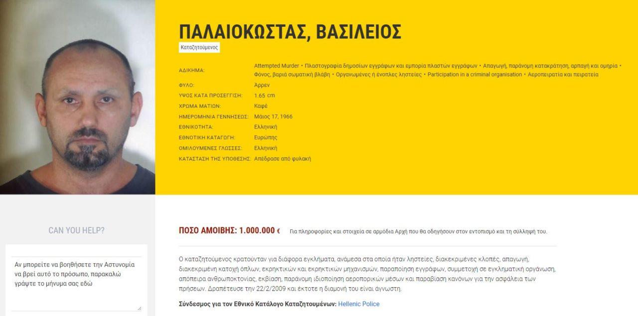 Βασίλης Παλαιοκώστας : Ο Έλληνας Ρομπέν των Δασών