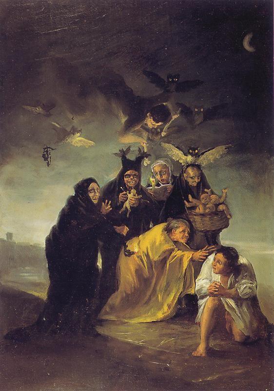 Πηγή εικόνας: pinterest.com | Τhe spell 1797 - 1798, Francisco Goya