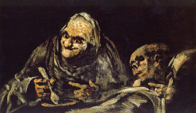 Πηγή εικόνας: tilestwra.com   Δύο γέροι τρώνε σούπα, Γκόγια, 1823