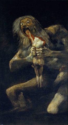 Πηγή εικόνας: tilestwra.com   Ο Κρόνος καταβροχθίζει τον γιο του, Φρανθίσκο Γκόγια 1819-1823