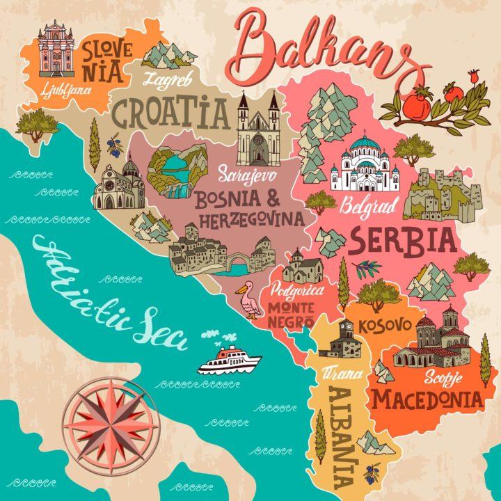 Διαφορετικοί προορισμοί σε ένα ταξίδι στο ανοιξιάτικο road trip στα Βαλκάνια