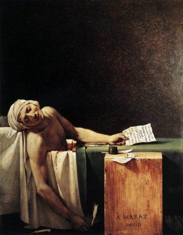 Πηγή εικόνας: theartofcrime.gr   «Ο θάνατος του Ζαν Πολ Μαρά» του Ζακ Λουί Νταβίντ.