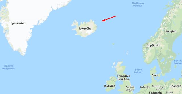 χάρτης Ισλανδίας
