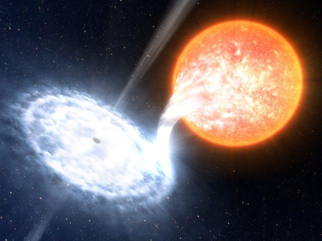 μαύρη τρύπα απορροφάει άστρο