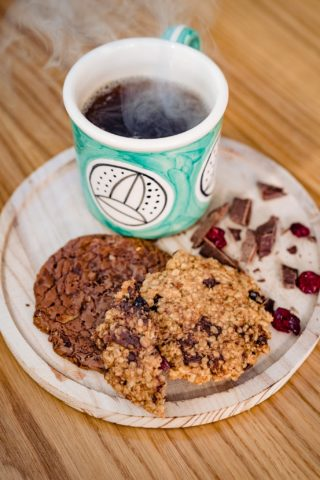 coffee, υγιεινά cookies