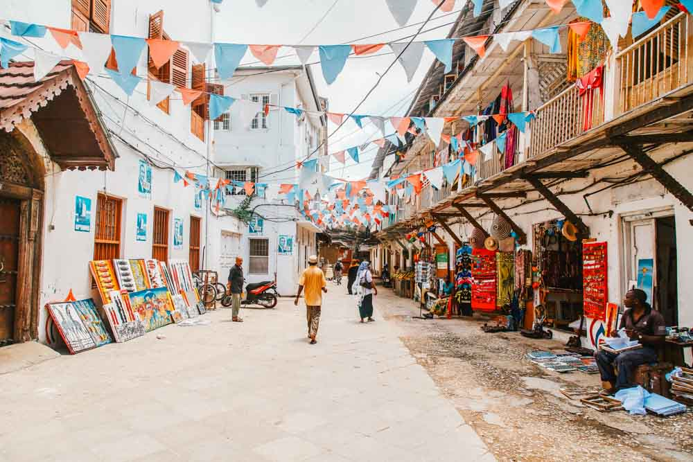 Stone Town is the old part of Zanzibar City