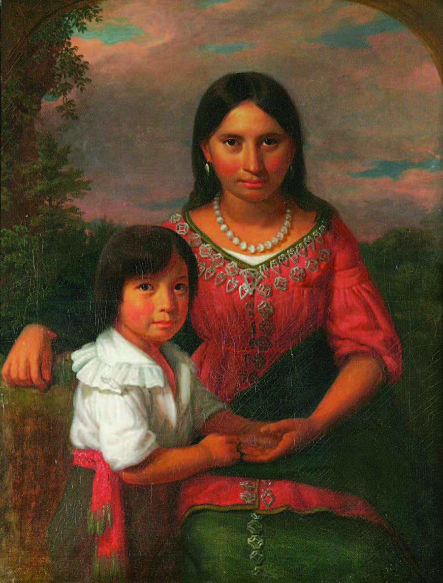 Pocahontas with her son