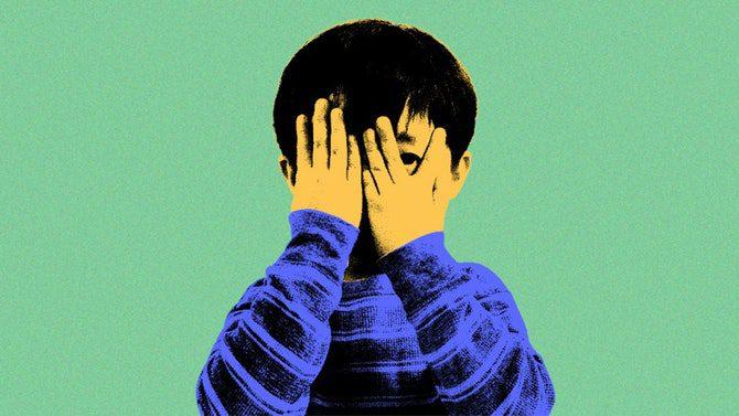 όταν ένα παιδί είναι ντροπαλό.