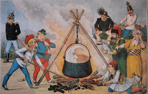 Συνθήκη Βερολίνο 1878, Ανατολικό Ζήτημα, γελοιογραφία, ελληνική