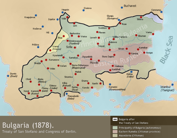 Συνθήκη Βερολίνου, Συνθήκη Αγίου Στεφάνου, 1878