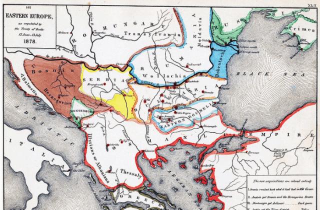 Συνθήκη Βερολίνου, 1878, Χάρτης, Νοτιοανατολική Ευρώπη