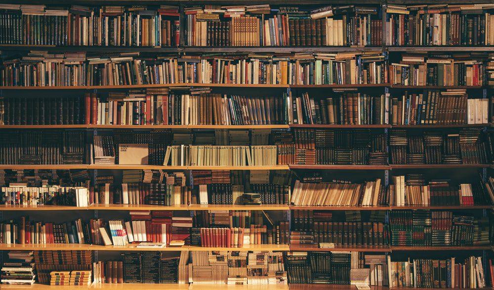 Ράφια με βιβλία, βιβλιοθήκη