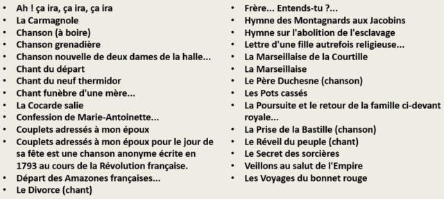 Τραγούδια Γαλλικής Επανάστασης