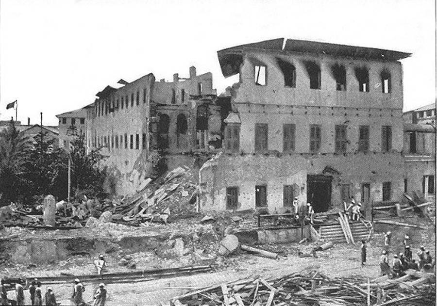 Ζανζιβάρη, βομβαρδισμός, παλάτι
