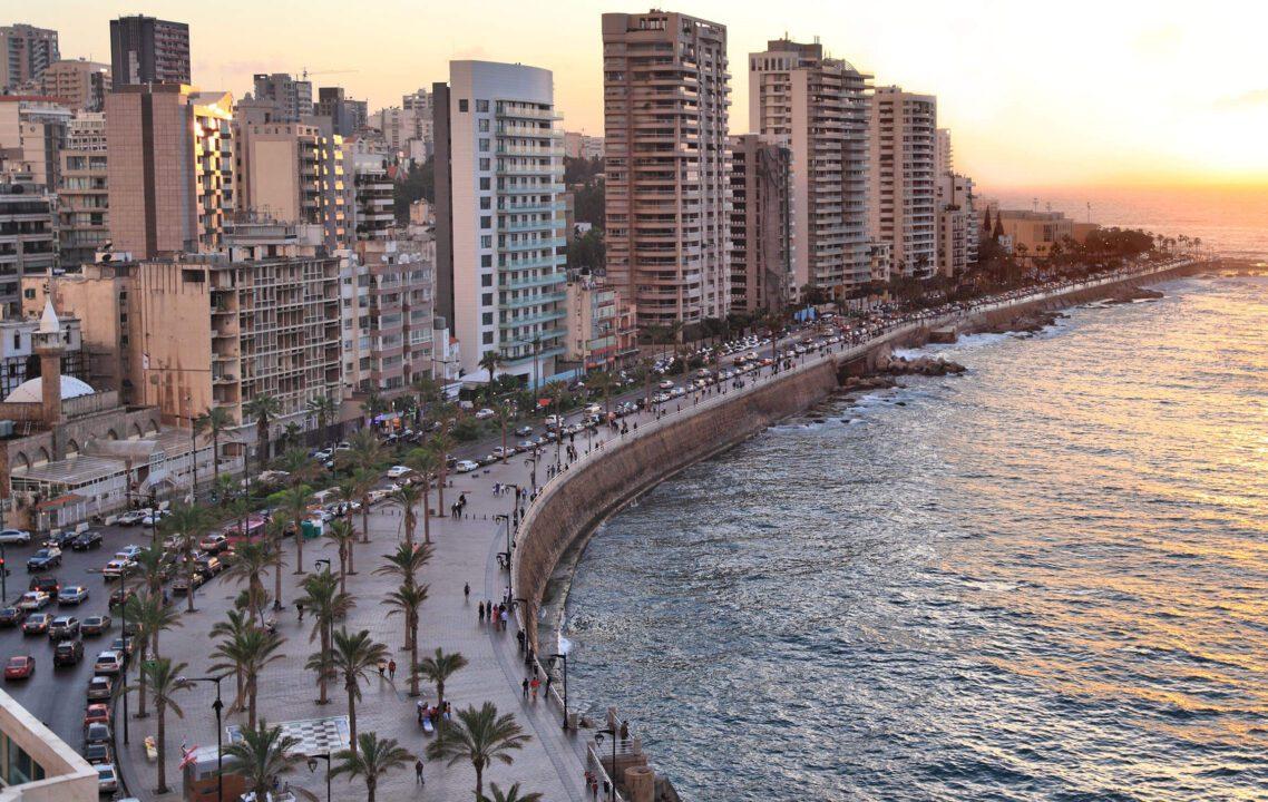 Βηρυτός: Η παραλιακή λεωφόρος Κορνίς.