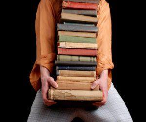 τα βιβλία στη μετακόμιση