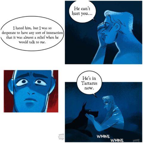 Ο Άδης δεν μπορεί να ξεπεράσει τη βιαιότητα του πατέρα του .