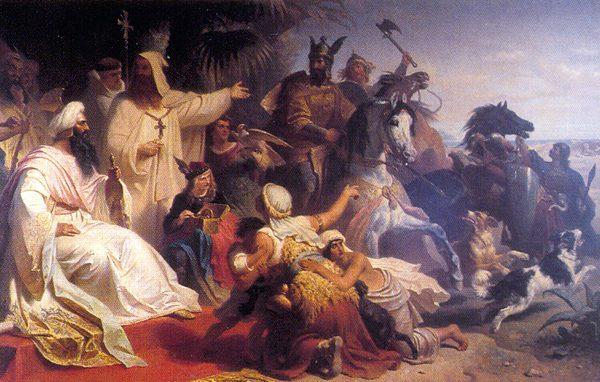 Πηγή εικόνας: newsbeast.gr | Πίνακας - βασιλιάς Καρλομάγνος