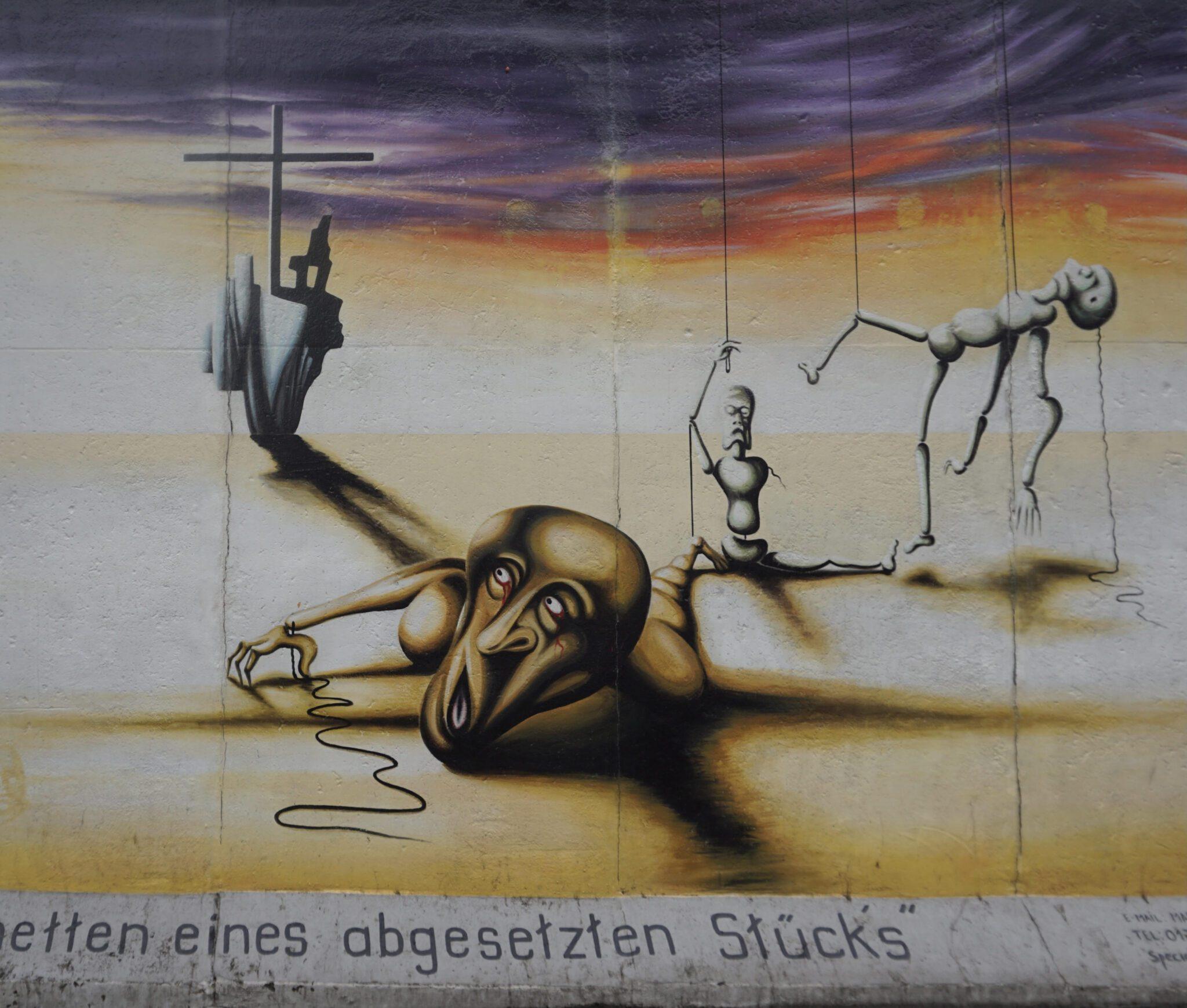 Τοιχογραφία του τείχους του Βερολίνου στο East Side Gallery