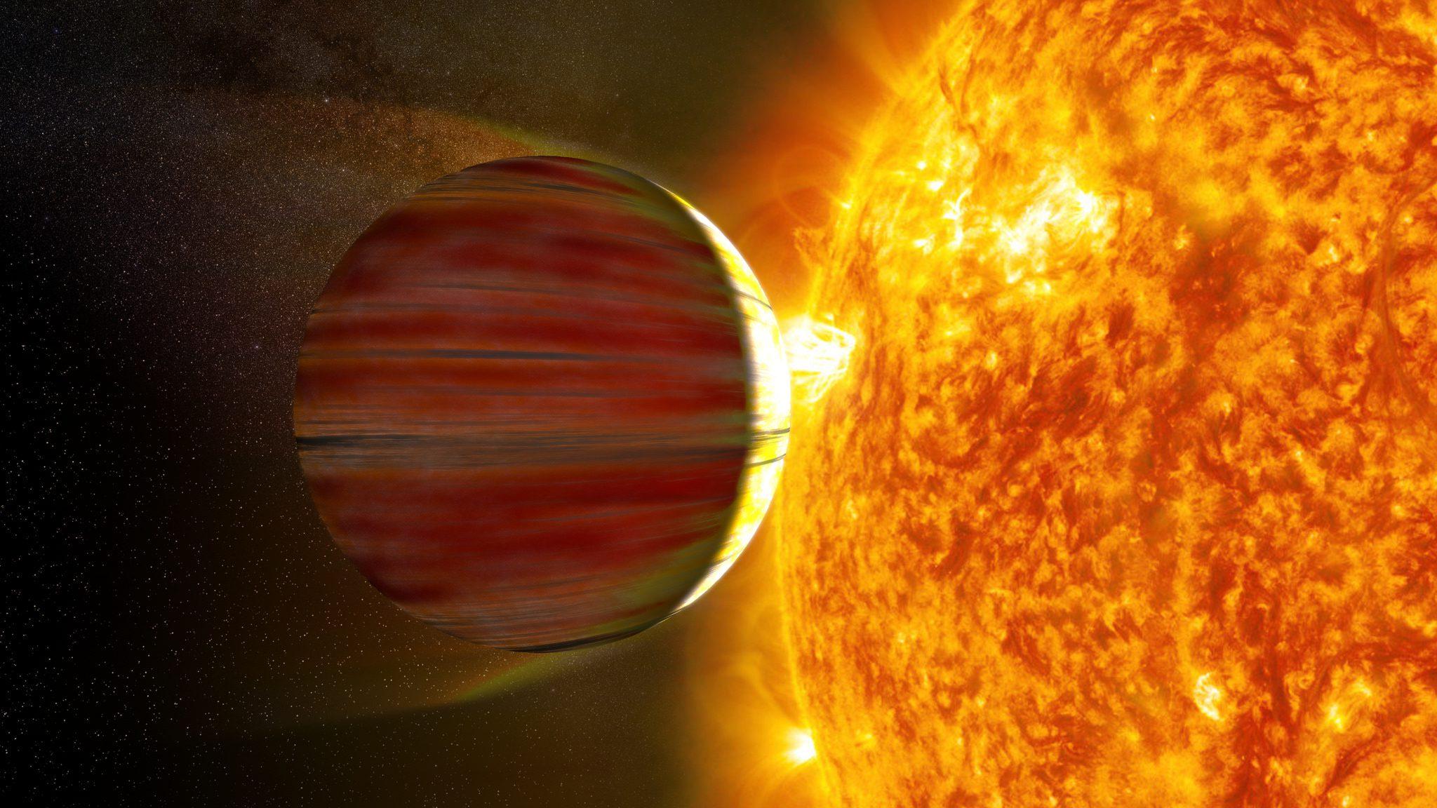 Αέριος γίγαντας πολύ κοντά στο άστρο του