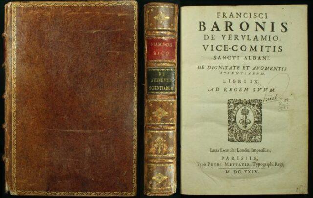 Πηγή εικόνας: catawiki.com | Βιβλίο του Φράνσις Μπέικον.