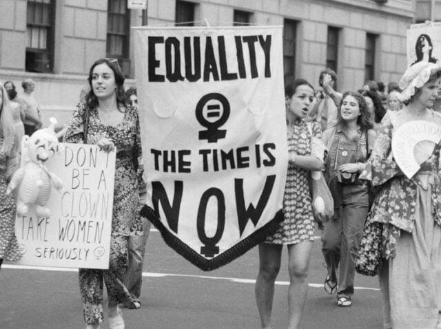 δεύτερο κύμα φεμινισμού- διαδήλωση