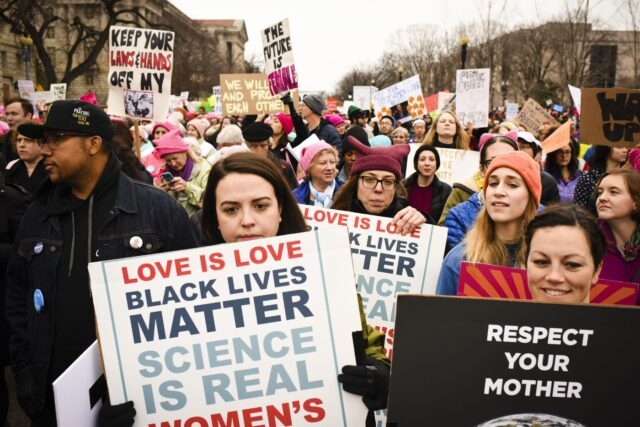 Women's March in Washington, DC on Saturday January 21, 2017
