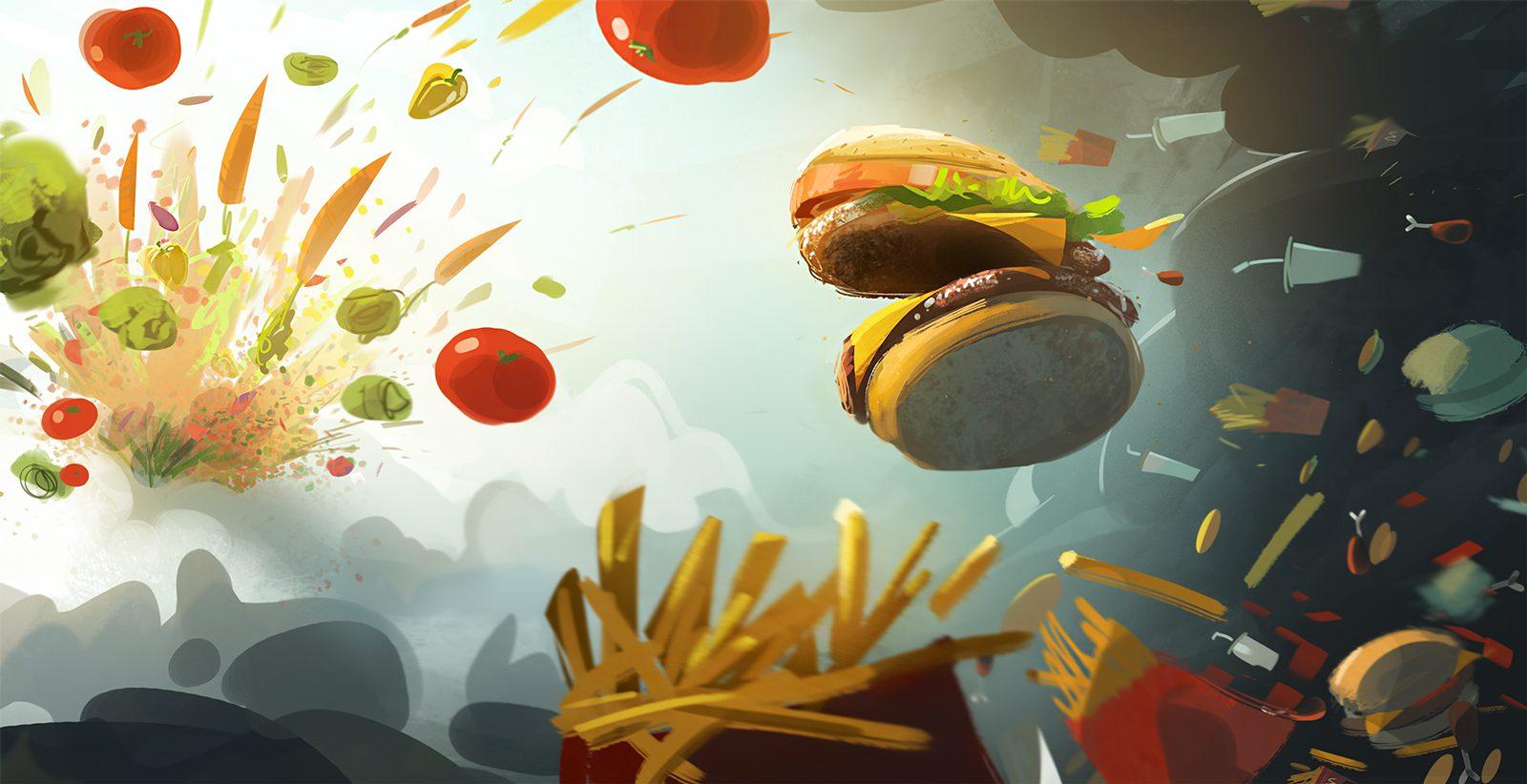 βιομηχανία fast food
