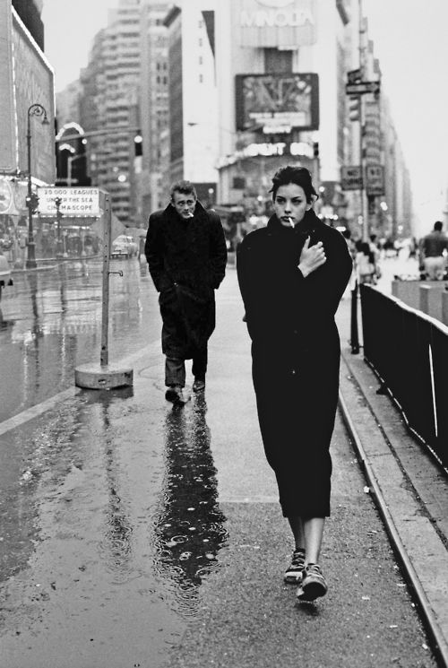Liv Tyler and James Dean-photoshoped photograph