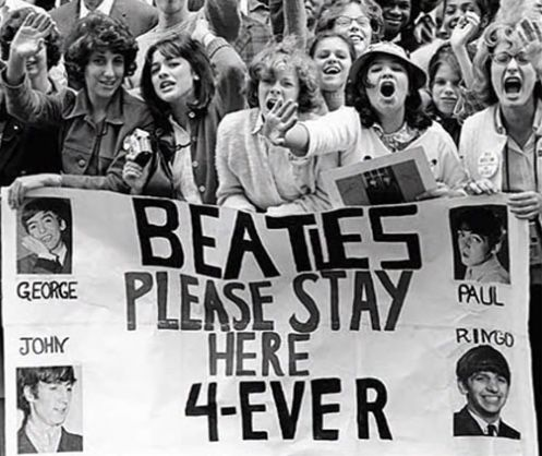 Beatles please stay here 4-ever, by fans