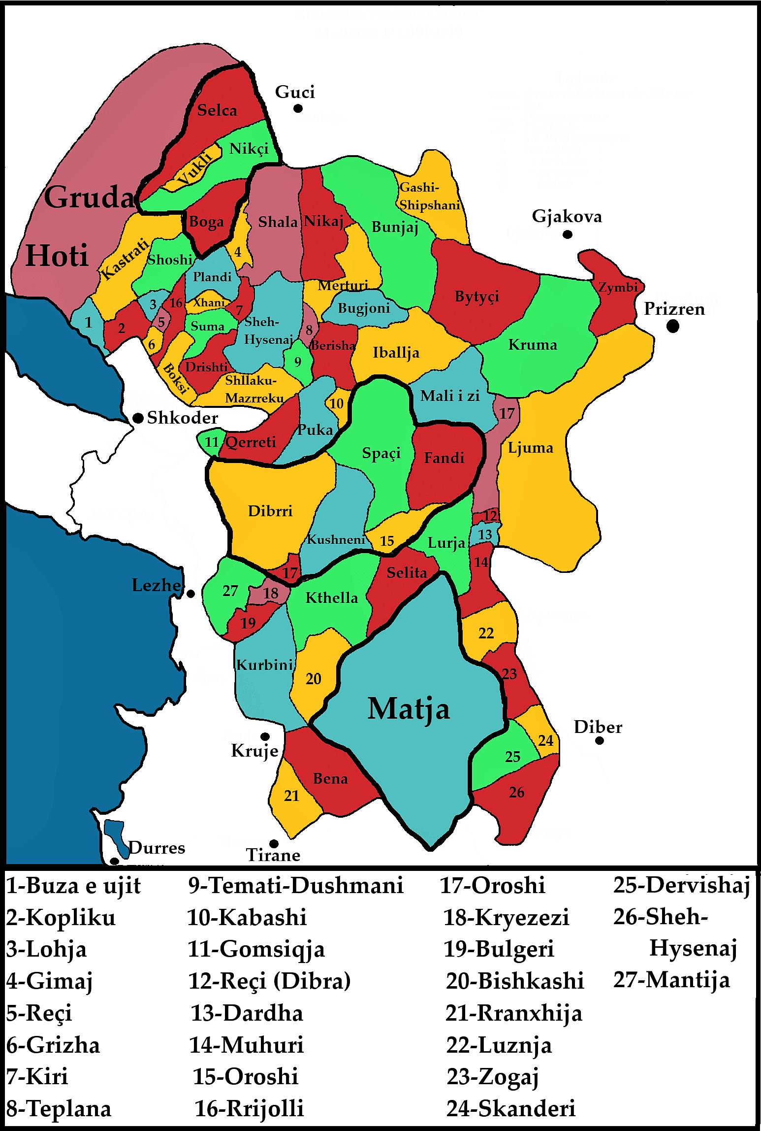 φυλές της βόρειας Αλβανίας