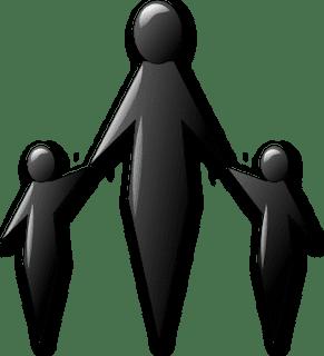 Απεικόνιση μονογονεϊκής οικογένειας Πηγή εικόνας : http://www.i-diadromi.gr/2011/10/blog-post_6006.html