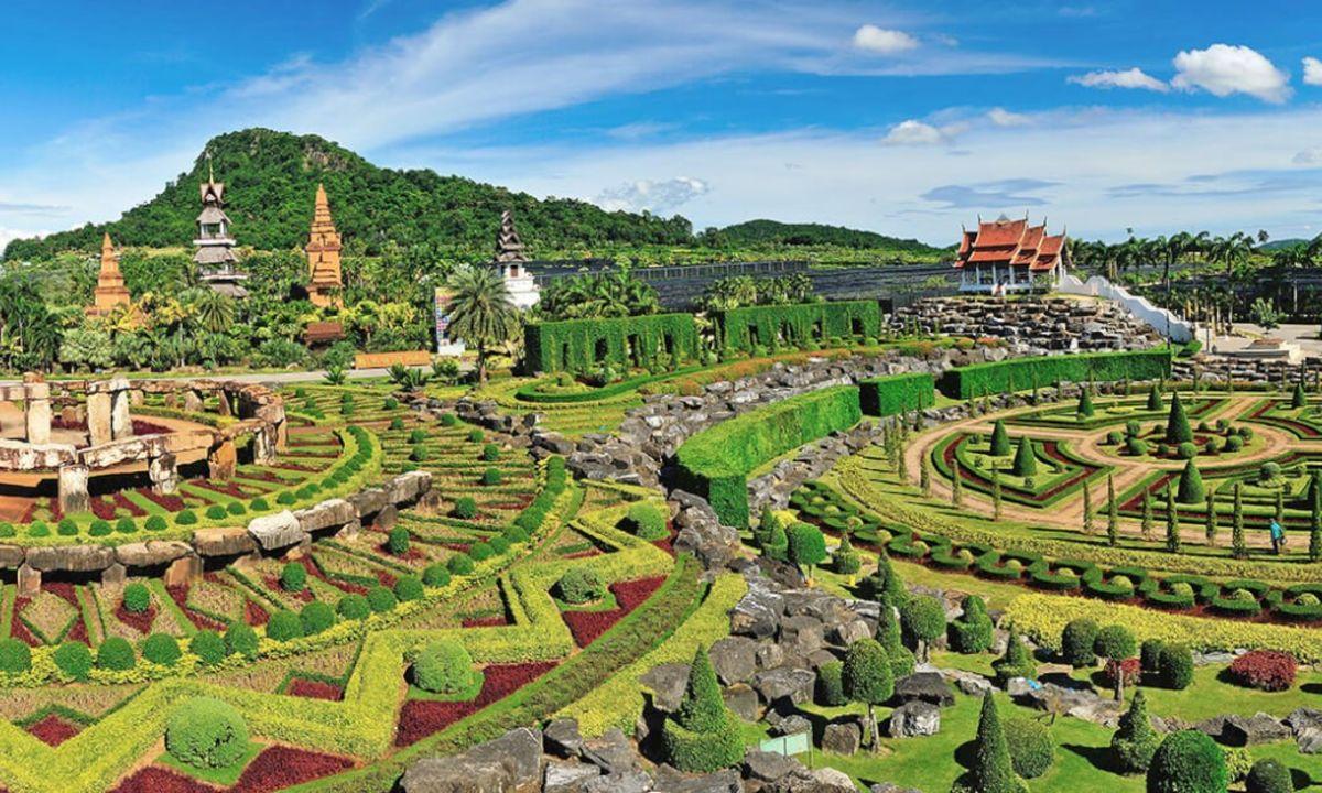 Nong Nooch Gardens ανοιξιάτικοι κήποι